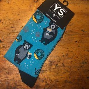 Other - 3️⃣/$20 🧦 Men's socks - bears & donuts 🍩